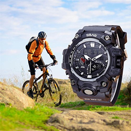 - T2000 26cm Watch LED Men Waterproof Sports Watches,Alarm, Whole Point Timekeeping,Long-life Battery,Tuscom (A)