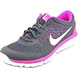 Nike Women's Flex 2015 Rn Anthrct/Pnk Pw/Fchs Flsh/Fchs Running Shoe 8 Women US