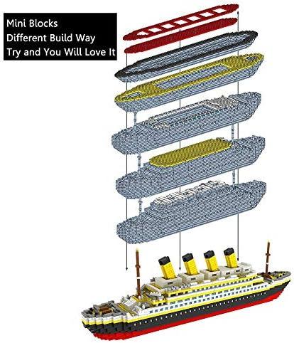 WGXQY Titanic Blocchi Modellino, 1860 Pezzi Titanic Modello Kit Custom Costruzione Titanic