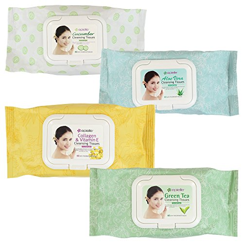 Kareway Epielle Assorted Makeup Remover Cleansing Towelettes, 60 Counts (Pack of 4) by epielle