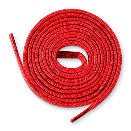 Lace Kings Flat Shoelaces (Red - 45in)