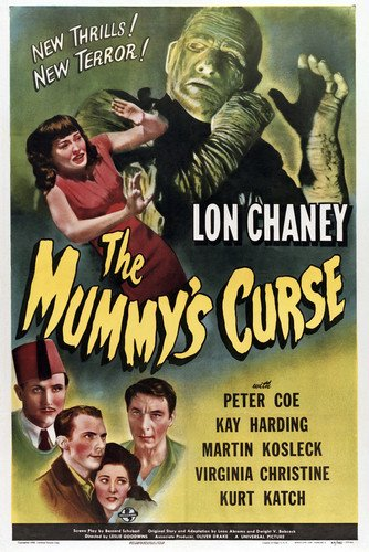 Lon Chaney Jr. and Kay Harding and Peter Coe in The Mummy's Scourge Portrait 24x36 Poster