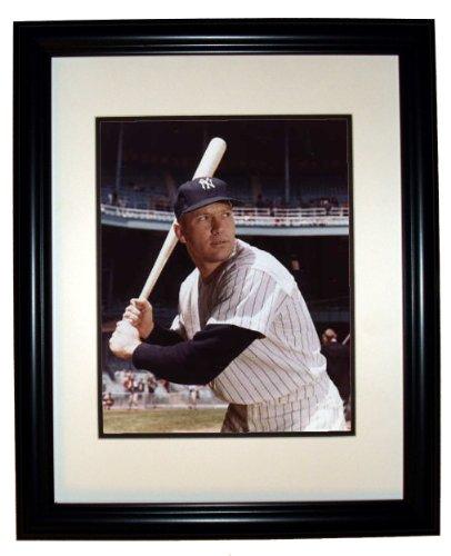 (Mickey Mantle NY Yankees 8x10 Photo 11x14 Black Frame #12)