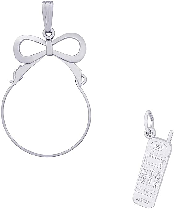 Mireval Sterling Silver Gymnast Charm on an Optional Charm Holder
