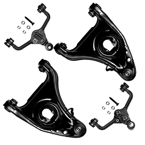 SCITOO 4pcs Suspension Kit 2 Front Upper 2 Front Lower Control Arm and Ball Joint Compatible fit 1995-2002 Ford Crown Victoria Lincoln Town Car Mercury Grand Marquis
