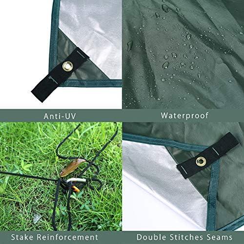 Outry Multifonctionnel /étanche Fly Tente B/âche Anti-UV l/éger Camping Abri ext/érieur Empreinte Rainfly Hamac Fly/ /Piquets et Corde Inclus