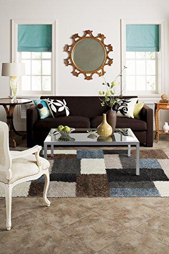 Mohawk Home Huxley Franklin Grey Black Geometric Woven Shag Area Rug, 66x10, Grey and ()