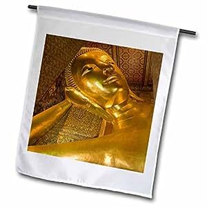 Danita Delimont - Buddhas - Thailand, Bangkok. The reclining Buddha at Wat Pho.-AS36 BTH0001 - Brenda Tharp - 12 x 18 inch Garden Flag (fl_70835_1)