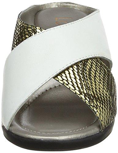Lotus Femme White Leather Mules Snake Platino Blanc Trino PrUxn86P