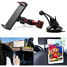 Kids Car Backseat Headrest Car Mount Stand Snap-on Holder with 360 Degrees Rotation Car Headrest Mount for iPhone X 8 8 Plus 7 7Plus, Samsung Note 8 S8, S7 (RED)