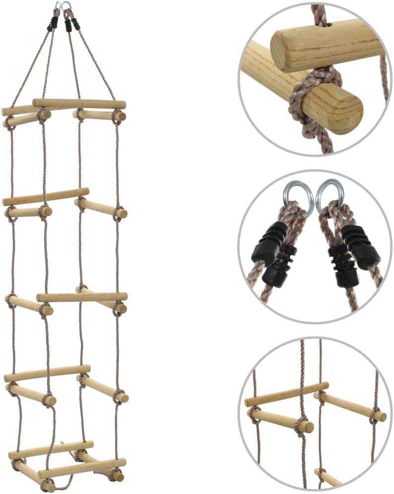 Tidyard- Escalera de Cuerda para niños 200 cm Madera: Amazon.es: Hogar