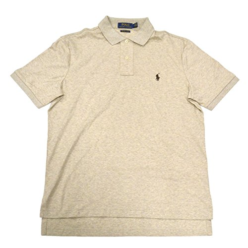 Soft Almond (Polo Ralph Lauren Mens Pima Soft Touch Polo (X-Large, Almond Heather Brown Pony))