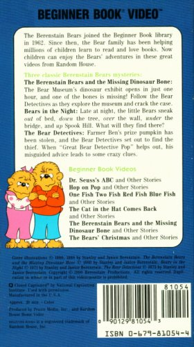 Amazon Com The Berenstain Bears And The Missing Dinosaur