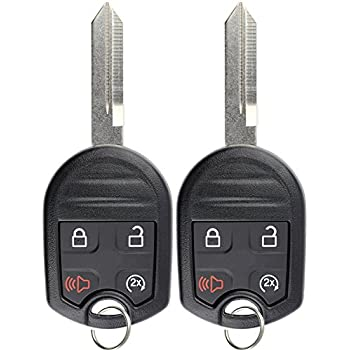 KeylessOption Keyless Entry Remote Control Fob Uncut Blank Ignition Car Key Replacement for CWTWB1U793 Pack of 2