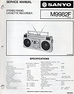 service manual for sanyo m9982f stereo radio cassette recorder rh amazon com Western Golf Carts Parts Manual Golf Cart Schematics or Diagrams