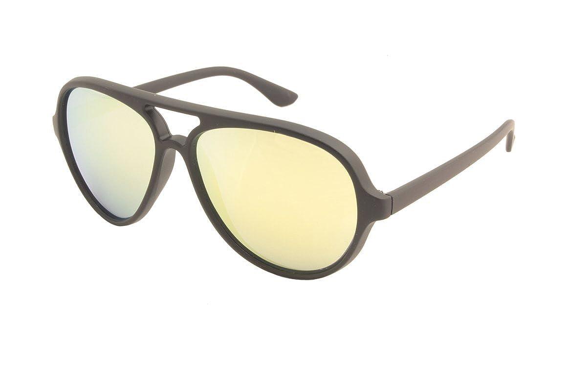 48486b54702 Amazon.com  KOHV   Glidden   Matte Black Gold Mirror Polarized Sunglasses -  Quality Eyewear for Men   Women