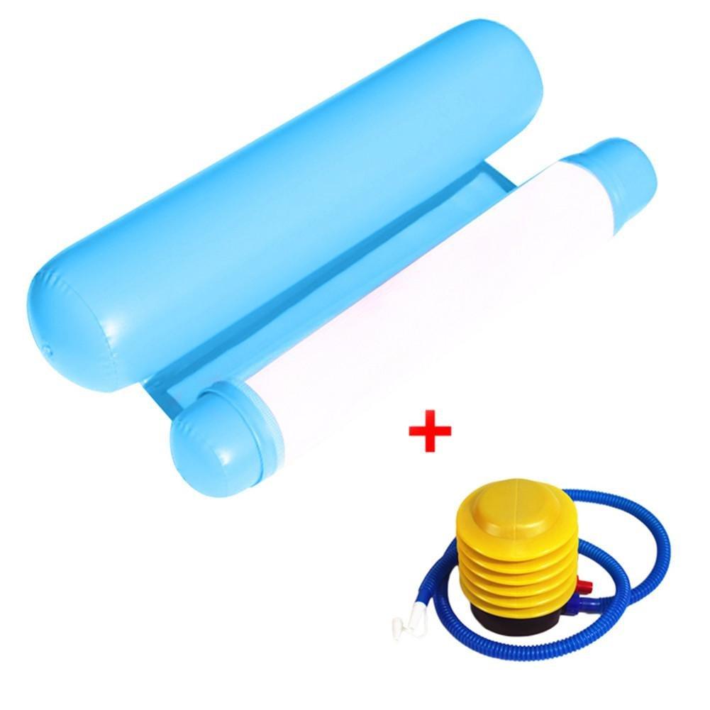 Filet de natation gonflable à air pliable avec pompe, adulte et enfant rouge