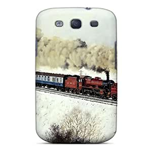 Tpu PopFront Shockproof Scratcheproof Twin Engine Steam Train Hard Case Cover For Galaxy S3