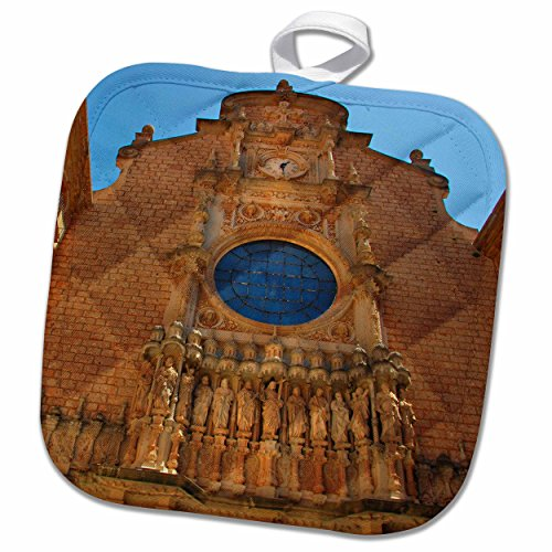 3D Rose Montserrat Monastery-Catalonia-Spain. Pot Holder, 8 x 8'' by 3dRose