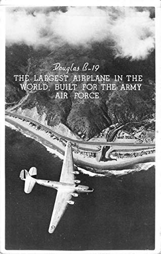 Douglas B-19 Airplane in Flight Real Photo Vintage Postcard AA65