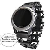 BestTechTool LEATHERMAN Tread Watch Adapter for GARMIN - Leatherman watch link - BTT adapter for GARMIN watches (Fenix Chronos, Black)