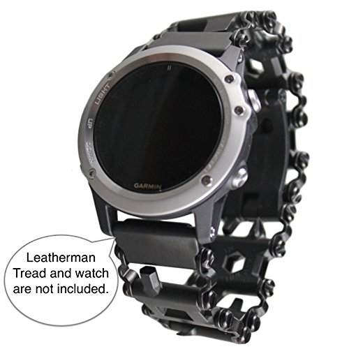 BestTechTool LEATHERMAN Tread Watch Adapter- Garmin Black Leatherman watch link for GARMIN D2, Bravo, Fenix 2, Fenix 3, 3 HR, 3 Sapphire, fēnix 5X, quatix 3, tactix Bravo; GB