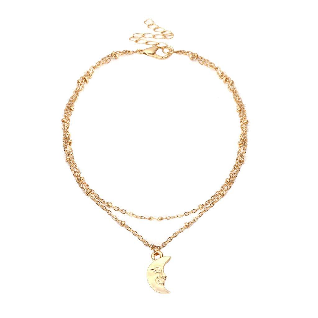 Malltop Shawn Bracelet Anklet Silver Charms Anklet Bracelet Beach, Casual Gifts for Women Girl