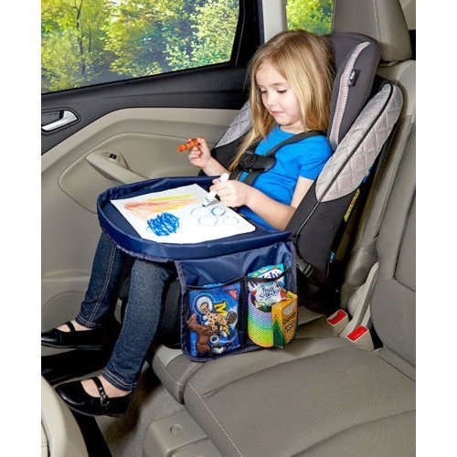 On The Go Car Seat Snack Play Area Kids Tray Travel Desk