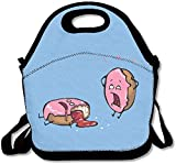 Lunch Bag Donut Mishap Lunch Tote Lunch Box For Women Men Kids With Adjustable Strap