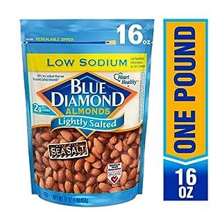 Blue Diamond Almonds, Lightly Salted, Low Sodium, 16 Ounce