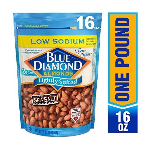 Blue Diamond Almonds, Lightly Salted, Low Sodium, 16 Ounce