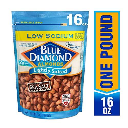 Roast Almonds - Blue Diamond Almonds, Lightly Salted, Low Sodium, 16 Ounce