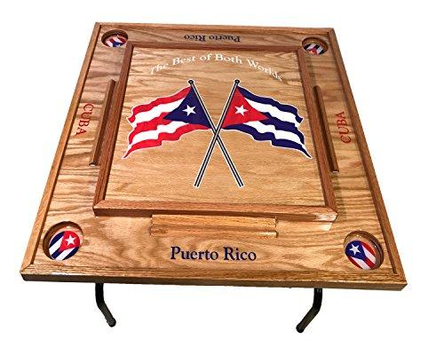 Puerto Rico & Cuba Domino Table by latinos r us