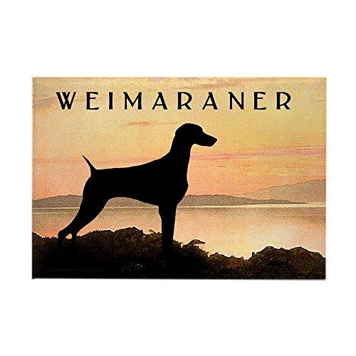 (CafePress Weimaraner Sunset Rectangle Magnet Rectangle Magnet, 2