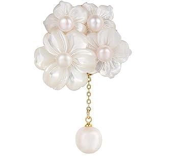 KUNQ Lindo Broche/Alto Grado De Elegancia Conchas De Perlas ...