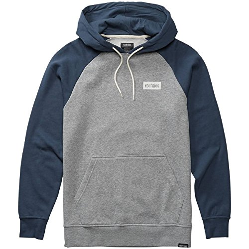 Etnies Men's Corp Box Hoody,Medium,Navy/Grey (Etnies Mens Sweatshirt)