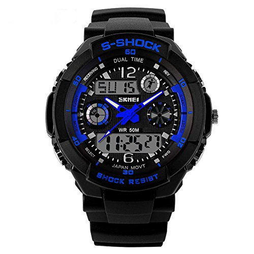 SKMEI Brand 0931 Japanese-quartz LED And Pointer Display , 50M Waterproof Multi-functional Sports Watch