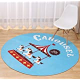 Multi-sized Cartoon Animal Round Carpet Area Floor Rug Doormat LivebyCare Entrance Entry Way Front Door Mat Ground Rugs for Rest Room Presence Chamber