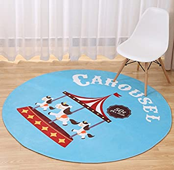 Multi-sized Cartoon Animal Round Carpet Area Floor Rug Doormat LivebyCare Entrance Entry Way Front Door Mat Ground Rugs for Playhouse Pub Bar Exercise