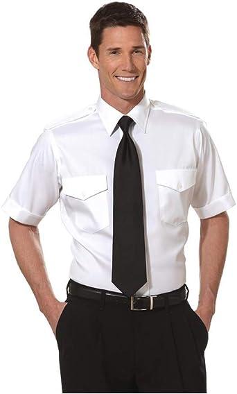The Aviator Shirt By Van Heusen Size 17-1//2 White Dress Shirt Pilot Short Sleeve
