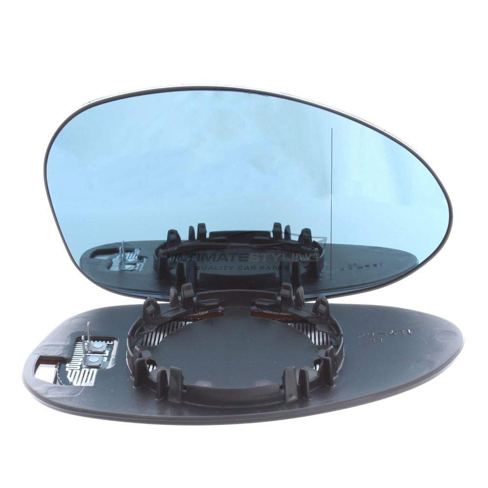 Ultimate Styling Aftermarket Replacement Heated Aspherical Blue Tinted Wing Mirror Glass Drivers Side RH