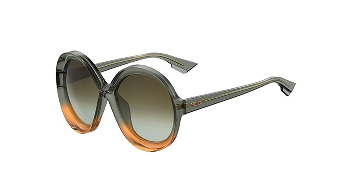 f10f833066 Amazon.com  New Christian Dior Bianca LGP HA Olive Green Shaded  Orange Green Sunglasses  Clothing