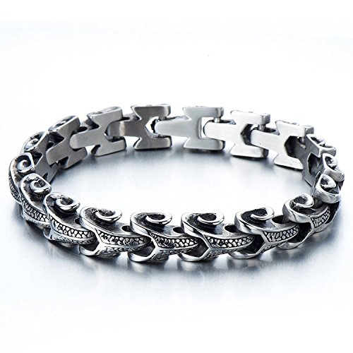 Stainless Capricorn Bracelet Gothic Inches
