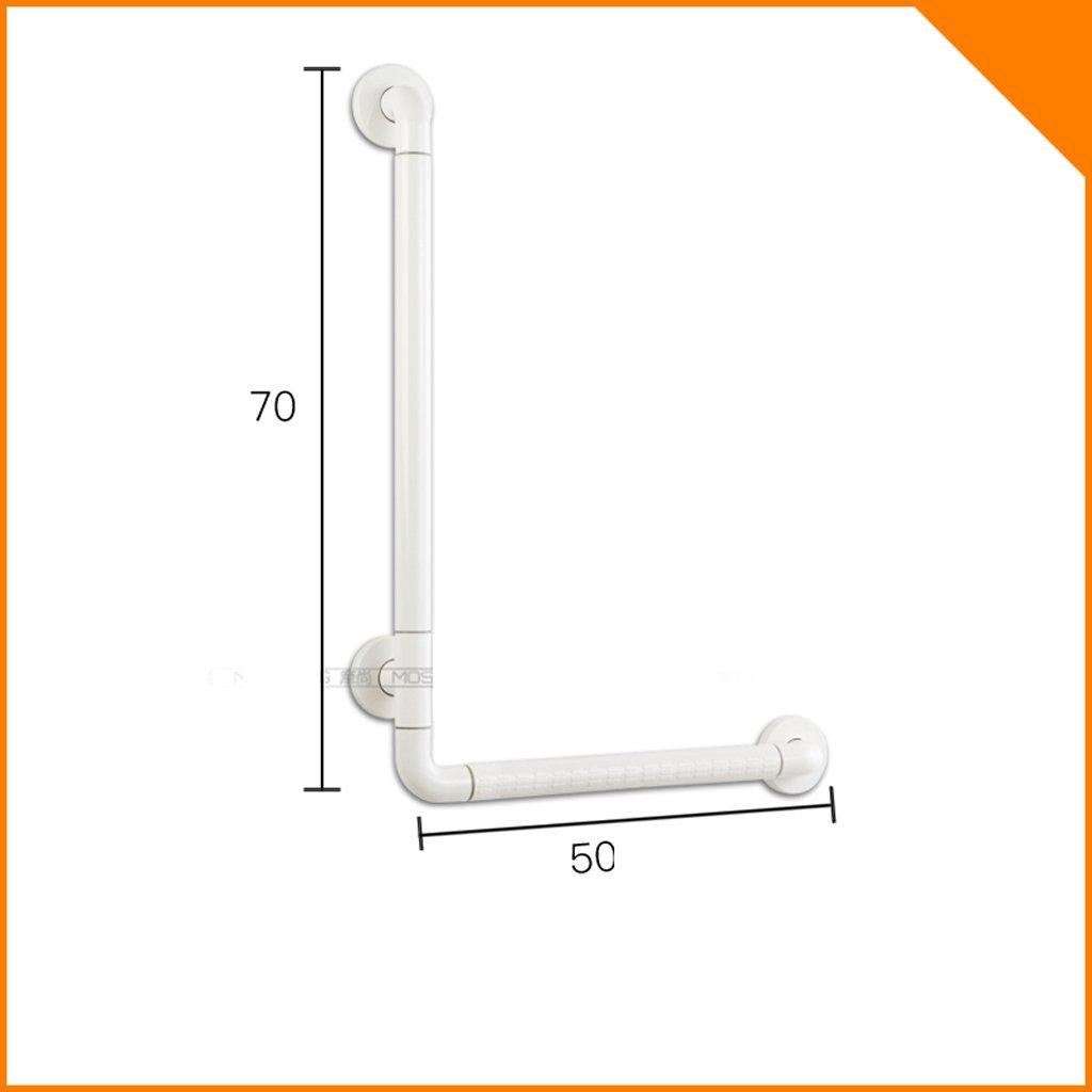 美しい 家- L型トイレ浴室のシャワー壁の手すり高齢者支援のバリアフリーバスルーム手すり ( 色 : 白 , サイズ さいず : 50 cm 50 cm ) B07C5HJ26W 50 cm 50 cm|白 白 50 cm 50 cm