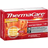 ThermaCare Lower Back & Hip Pain Therapy Heatwraps, L-XL Size (2-Count, Pack of 12)