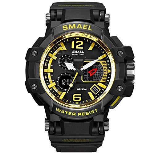 ... LED Digital para Hombre - Reloj electrónico - Reloj de Cuarzo de Goma- relojero Reloj reloje -hombresRelojes de Pulsera Inteligentes: Amazon.es: Relojes