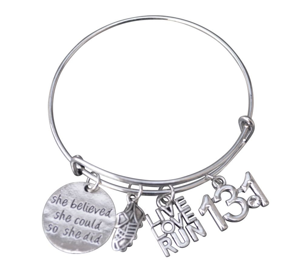 Adjustable Running Charm Bracelet