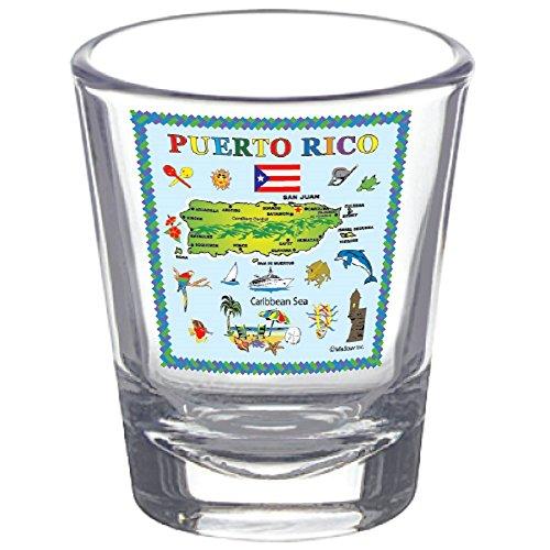 Shot Glass Puerto Rico Souvenir Novelty Colllectors Gift Shot Glass