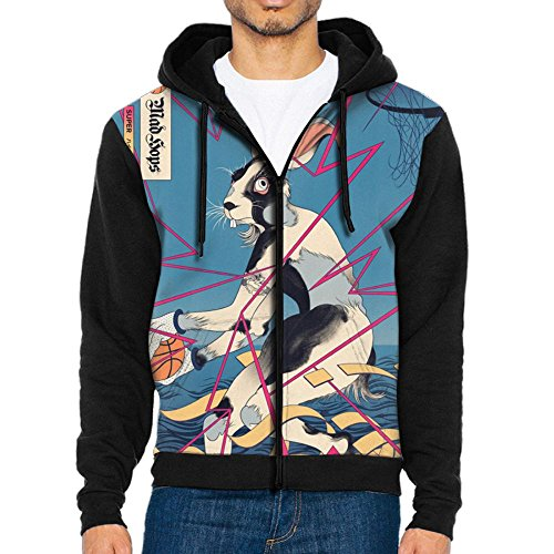 Zoom Dig Camera (BINGYUDI Mens Customized Printing Dig Into This Action Hooded Sweatershirt With Pocket Black S)