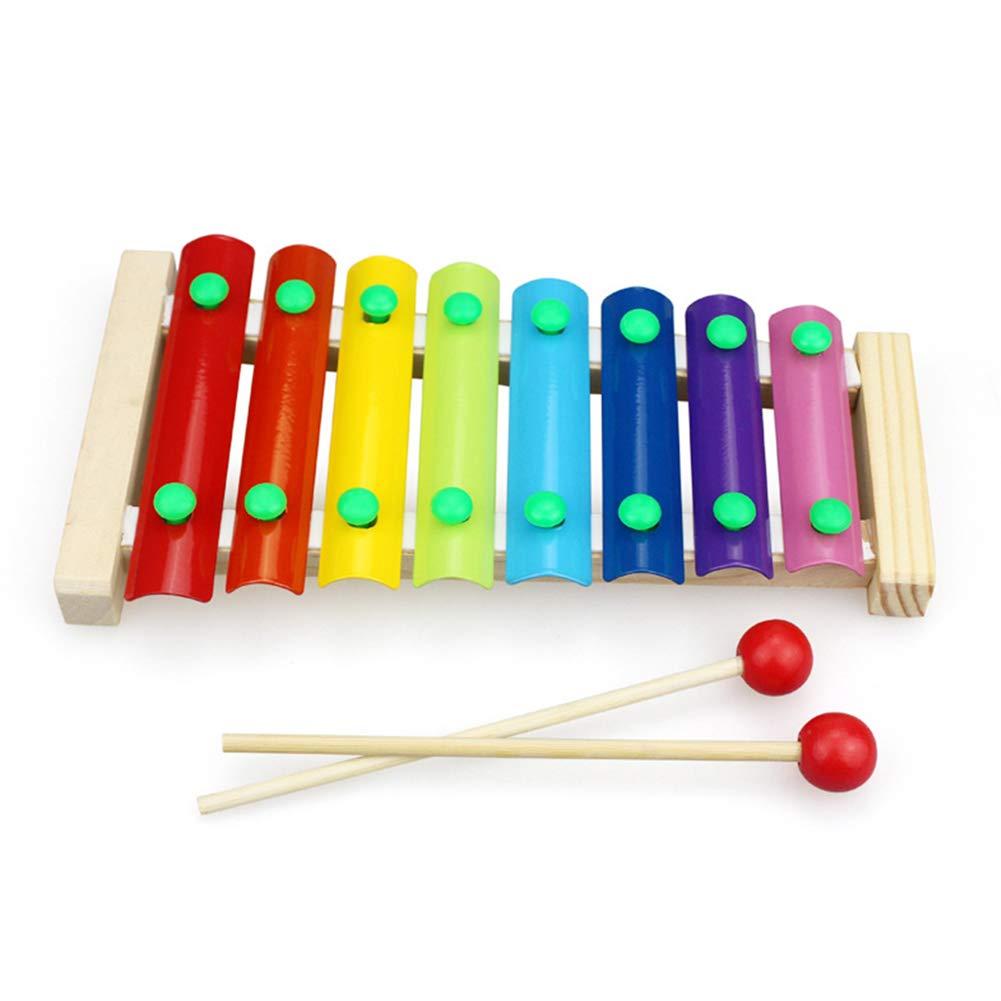 mxdmai Xylophone mit Kindersicherem Holzschlä gel fü r Kinder Musiker kleine Hä nde magischen Zauber Tonen buntes Lernspielzeug